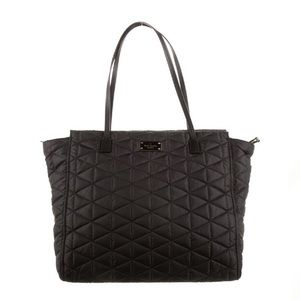 HP🎉 Kate Spade Quilted Black Tote Purse Bag